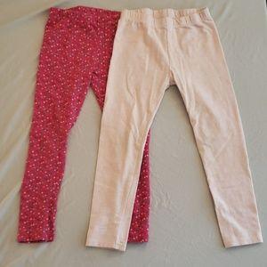 2 pair Crazy 8 leggings